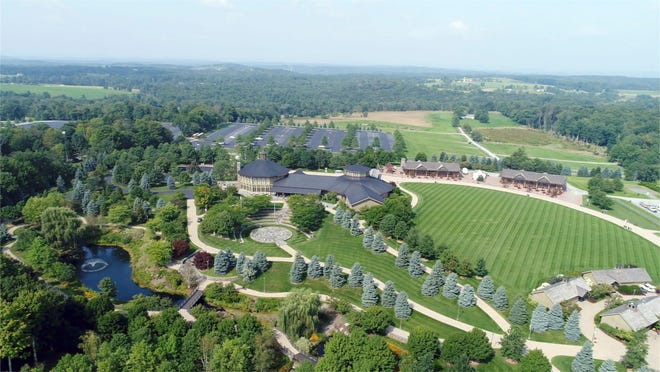 Aerial view of Bethel Woods Center for the Arts in Bethel on Tuesday, August 28, 2018.