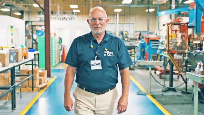 Phoenix Specialty Manufacturing Sales Manager Steve Cornforth inside the Bamberg County facility.