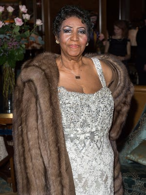 Aretha Franklin at her birthday celebration on March 22 in New York City.