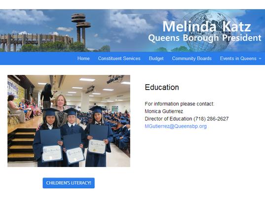 Melinda Katz website