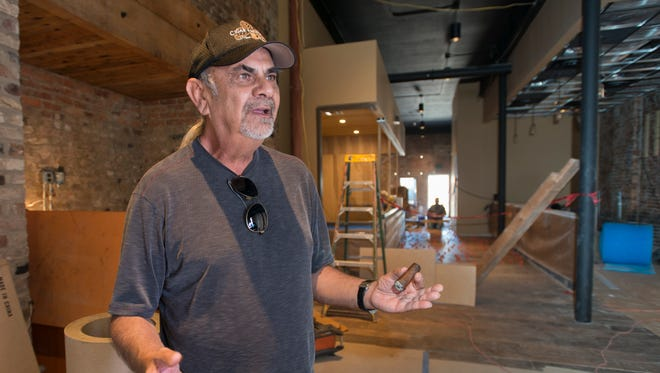 Owner David Sharruf discusses the progress of the Cigar Bar that is under construction at 14 Palafox Place in downtown Pensacola on Wednesday, September 13, 2017.