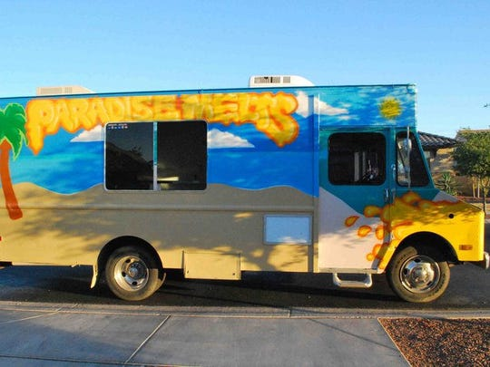 Paradise Melts is the featured food truck at the 40th anniversary of the Scottsdale ArtWalk. It will be stationed on Marshall Way.
