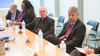 Libertarian presidential nominee Gary Johnson meets with the USA TODAY Editorial Board on Sept. 21, 2016.