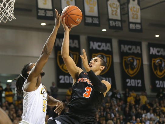 Princeton Tigers guard Devin Cannady (3)