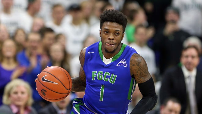 No. 14 seed Florida Gulf Coast and guard Reggie Reid (1) look to pull off a shocking upset over No. 3 seed Florida State on Friday night.