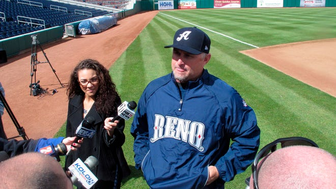 Reno manager Phil Nevin is said to be a candidate for the Diamondbacks' open managerial position.
