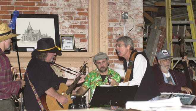 A Hobo Band of local musicians performs inside the train station in 2006.