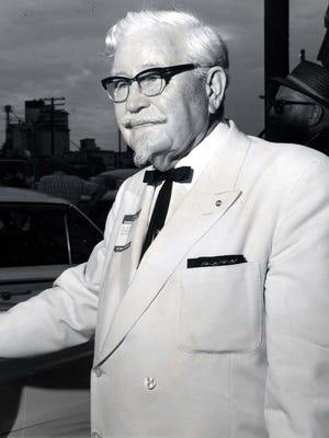 Col. Harland Sanders on 1964 Governor's tour.