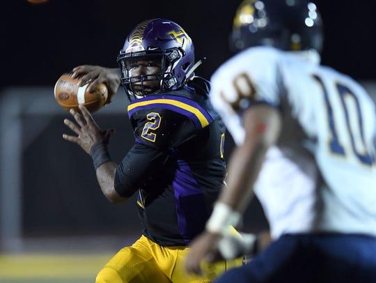 Hattiesburg High quarterback Jarod Conner has thrown