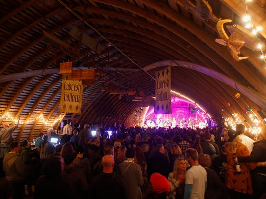 About 600 fans packed into a small, intimate barn to hear Edward Sharpe and the Magnetic Zeros perform at the Codfish Hollow Barnstormers session in rural Maquoketa on Tuesday, May 17, 2016.