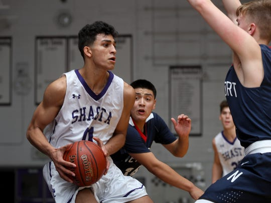 Shasta forward Simer Singh was one of five players picked to the all-Northern Section First Team this season.
