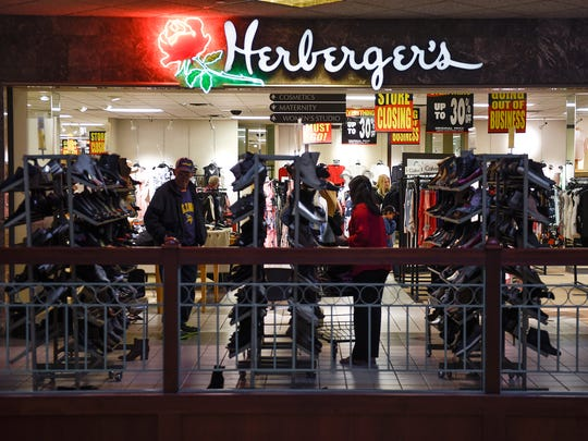Shoppers started taking advantage of Herberger's going