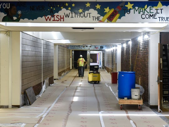 The hallways at Apollo High School are prepared for HVAC work Tuesday, June 5, in St. Cloud.