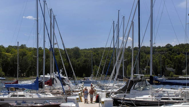 A file photo of Egg Harbor Marina during summer, 2015.