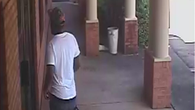 The suspect in a recent jewelry store on Eastern Boulevard is being sought by the Montgomery Police Department.