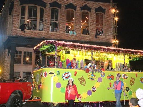 The Krewe of Janus Mardi Gras Parade begins at 6 p.m.
