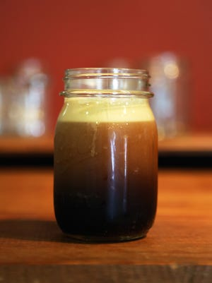 Cold Nitro coffee,  by  Deeper Roots Coffee in Mount Healthy, a coffee roaster.