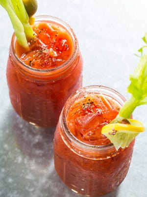 Now that it's tomato season, use fresh tomatoes to make your own bloody mary mix.