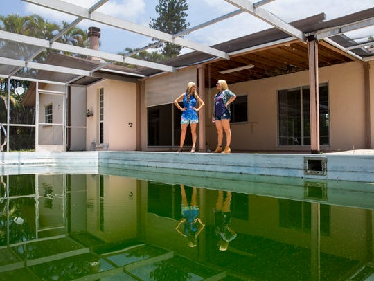 House flipping duo Heather Caine, left, and Katie Werchek