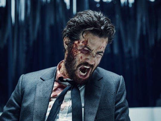 "After taking beatings in ""Fifty Dead Men Walking"" and AMC's ""Feed the Beast,"" Jim Sturgess gets bloodied up once again in Hulu's ""Hard Sun,"" playing corrupt cop Charlie Hicks."