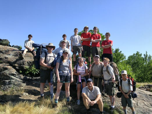 Boy Scouts from Troop 1969 of Stanton backpacked through