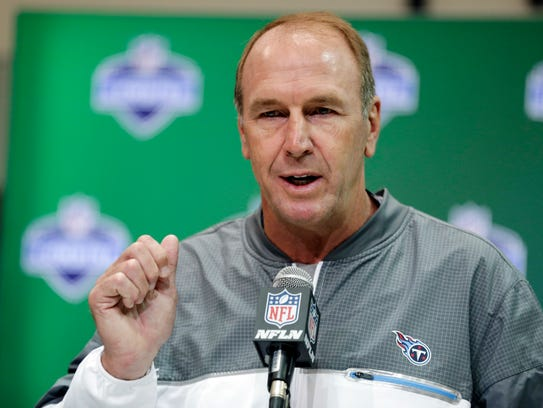 Tennessee Titans coach Mike Mularkey speaks during