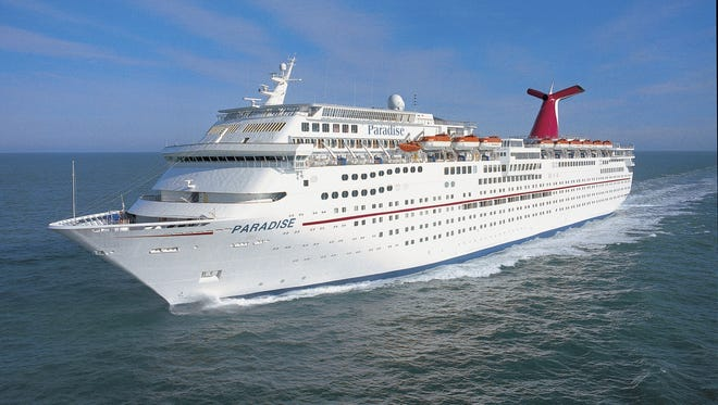 The 70,367-ton Carnival Paradise is one of Carnival's eight Fantasy Class vessel, which date to the 1990s. Built in 1998, it carries 2,056 passengers and sails to the Caribbean out of Tampa.
