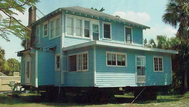 This is what the Bowers-Briggs home looked like when it was moved to its new location on Dean Street. Christian Busk added a back porch, a master suite and many other improvements.