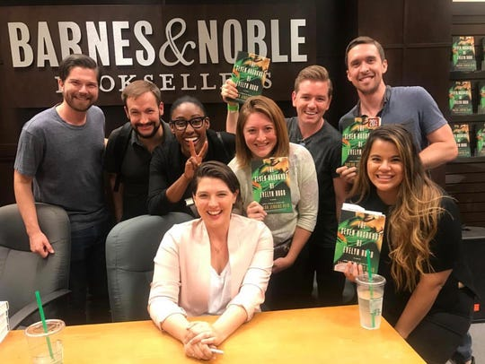 Taylor Jenkins Reid poses with friends, family and fans at Barnes & Noble at The Grove in Los Angeles.