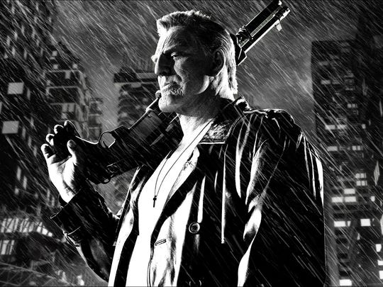 Mickey Rourke in a scene from the film 'Sin City: A Dame To Kill For.'
