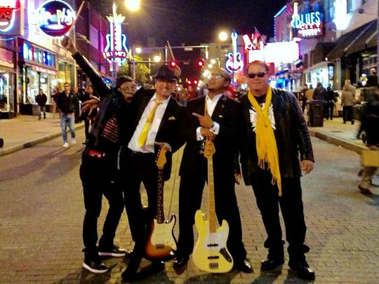 From left, AJ Maestro Bryant,  Dan Cunningham, Emery Kidd and Jeff Cummings of Montgomery blues band King Bee performed at the International Blues Challenge in Memphis, held Jan. 31-Feb. 4, 2017.