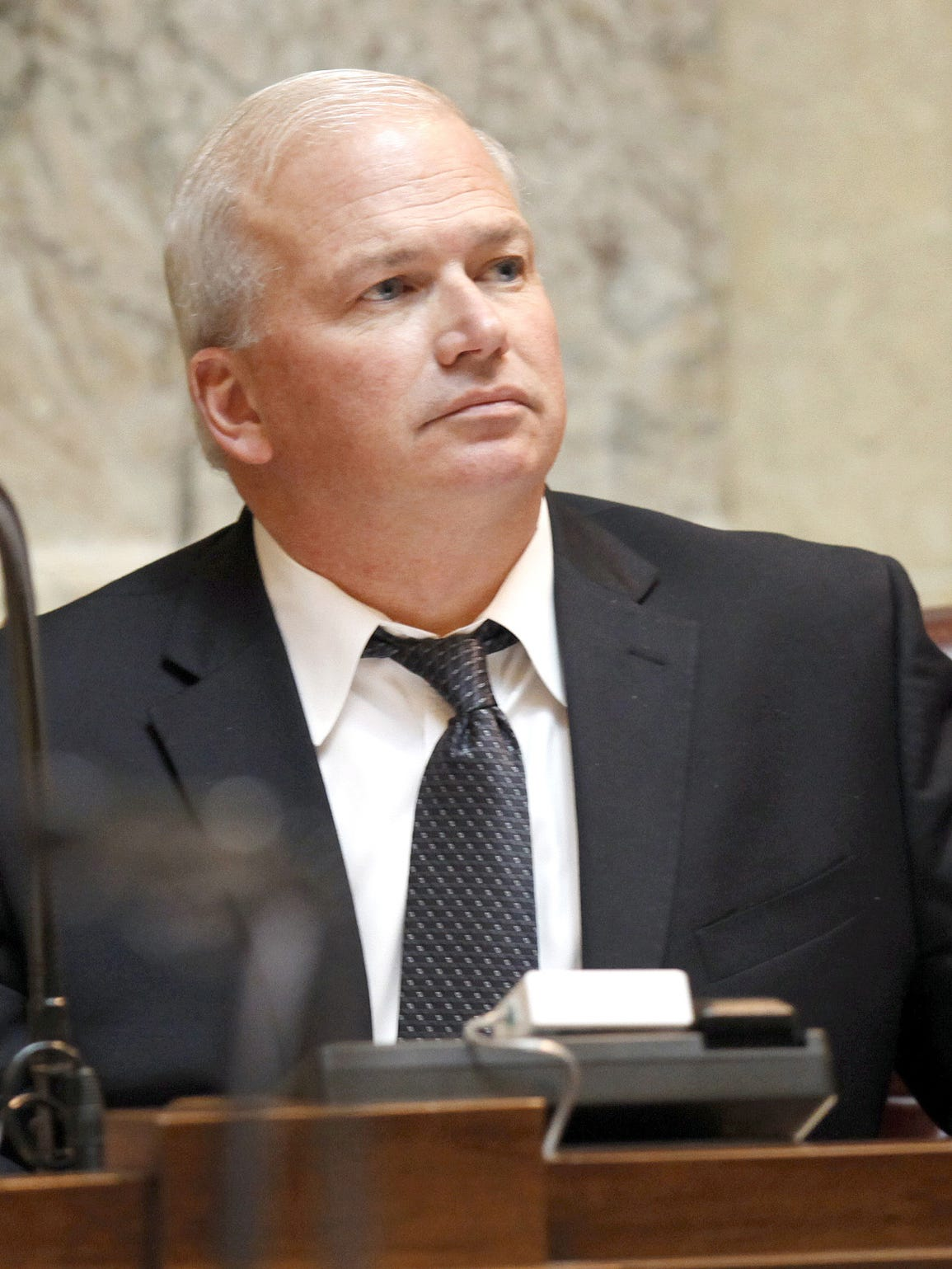 State Sen. Scott Fitzgerald, R-Juneau, defends the
