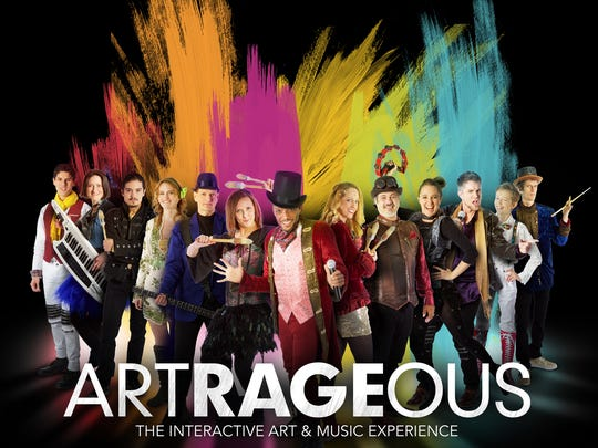 """""""Artrageous"""" cast members will jump around throughout"""