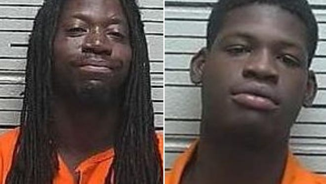 Marty Morgan, left, pleaded not guilty by reason of mental disease or defect. Arraignment was continued for his co-defendant, Keon Dashon Cain, shown to the right.