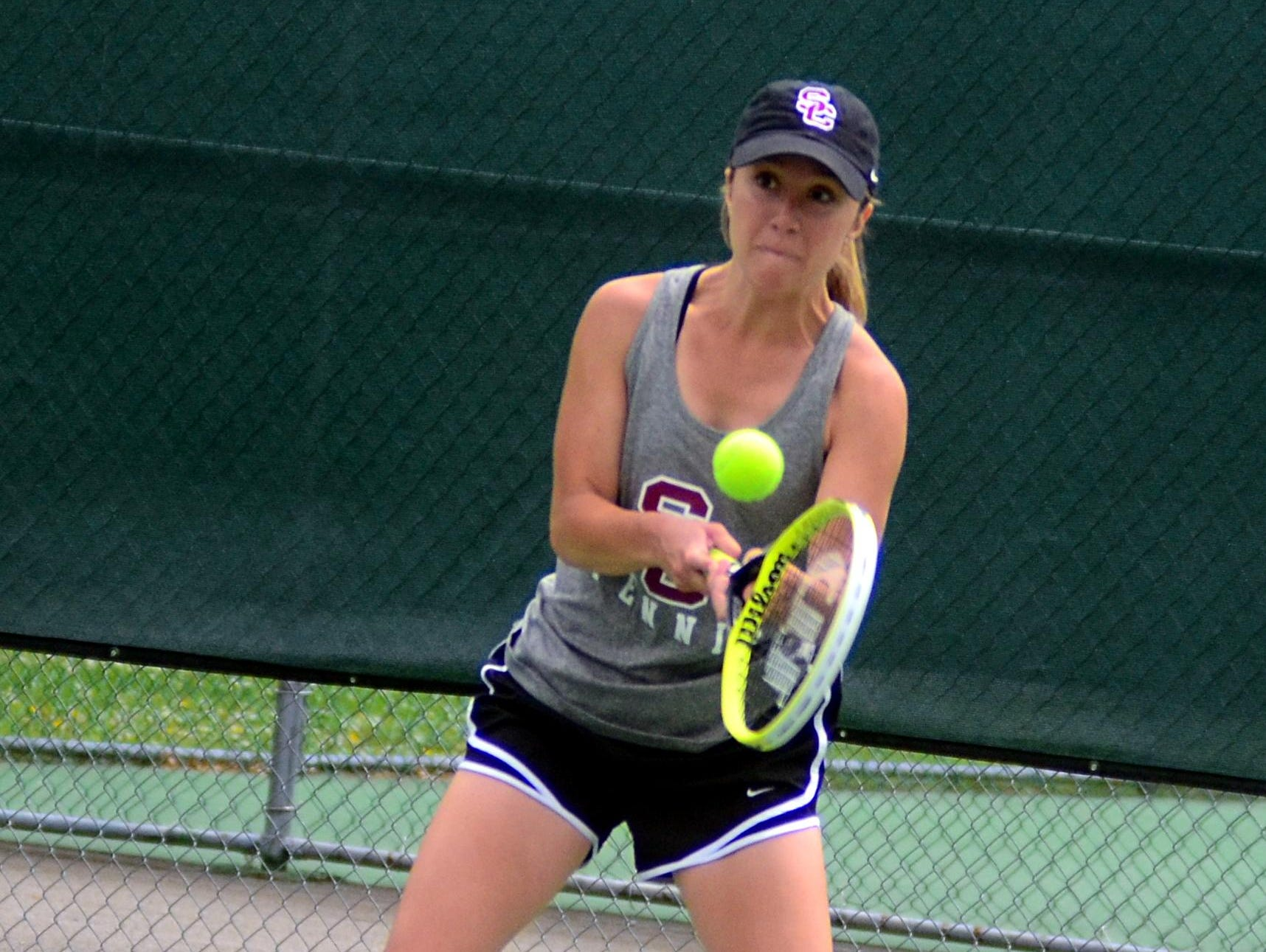 Station Camp High senior Rachel Crosslin advanced to the singles quarterfinals of the District 9-AAA Individual Tennis Tournament before suffering a straight-set loss to Mt. Juliet's Elizabeth Stanley.