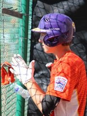 Dash Albus looks on from the Wylie Little League Junior