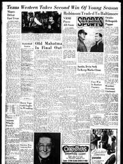 Dec. 9, 1965 Sports front page.