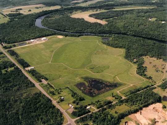 Land at the Flambeau mine was later reclaimed. The site rests along the Flambeau River in Rusk County.