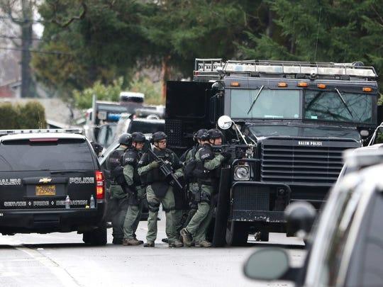 Salem Police on scene in the Northgate Neighborhood.