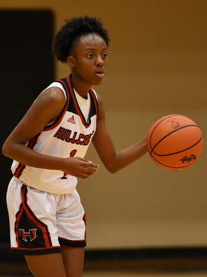 Hillcrest senior Quin Byrd, shown during the 2016-2017 season, became her school's career scoring leader when the Rams beat Spartanburg Thursday night in the Lady Sandlapper Holiday Classic at Eastside.