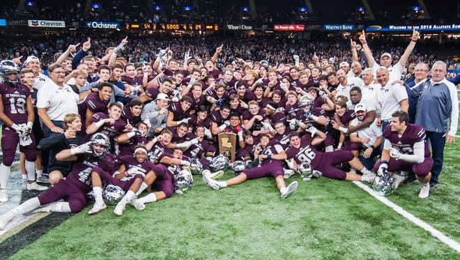 LHSAA Division II champions, the St.Thomas More Cougars in the Mercedes-Benz Super Dome on Friday December 2, 2016.