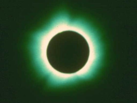 Total eclipse in 1970, taken at Back Bay Nature Preserve, near Norfolk, Virginia