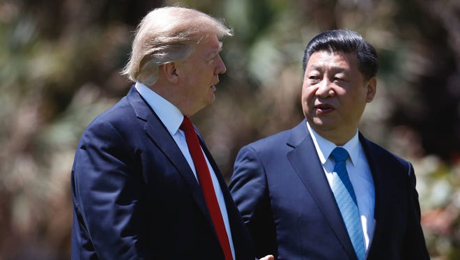 President Trump meets with Chinese President Xi Jinping at Mar-a-Lago earlier this month in Palm Beach, Fla.