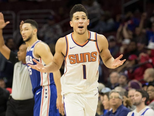 official photos 4f5c0 8237c Phoenix Suns' Devin Booker on Michael Jordan: 'I play to be ...