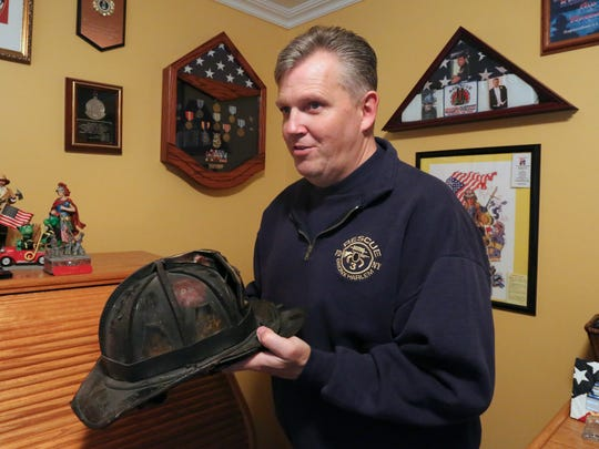 Retired New York City firefighter Jeff Cool at his