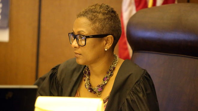 Wayne County Circuit Court Judge Vonda Evans in 2013 at Frank Murphy Hall of Justice in Detroit.
