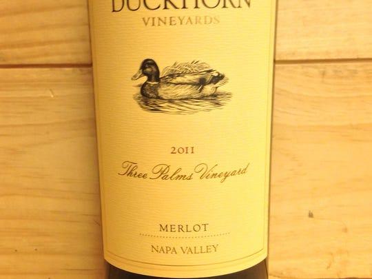 2011 Duckhorn 3 Palms merlot.