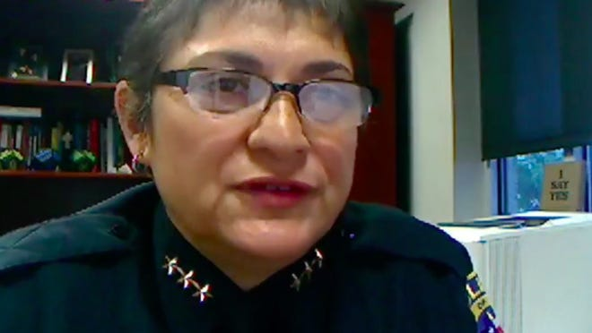 Pflugerville Police Chief Jessica Robledo was one of a handful of area police chiefs who participated in an online community forum on policing hosted by the Mosaic Church.