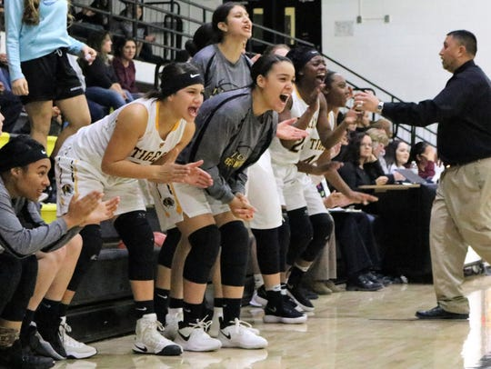 The Alamogordo bench erupts into excitement Friday