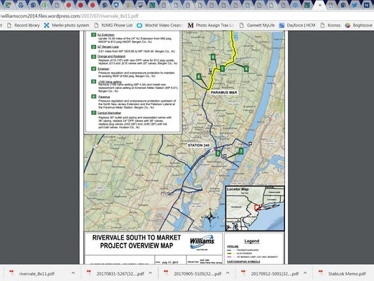 Pipeline plan in Meadowlands